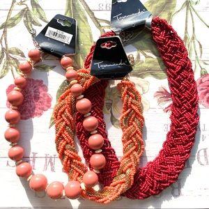 Taramanda 3 Pieces Colorful Beaded Necklace